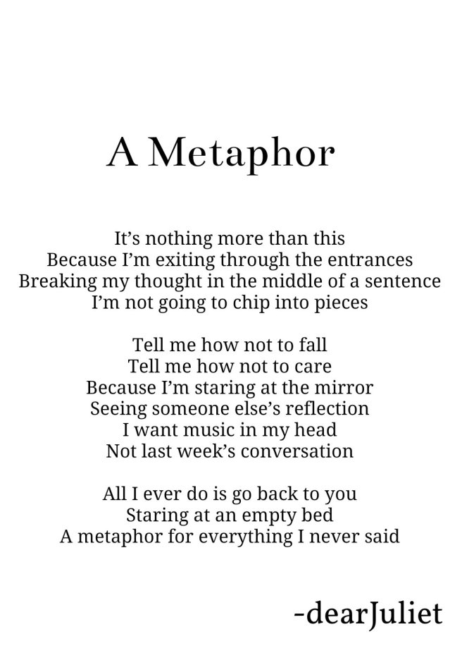 poetry about a metaphor