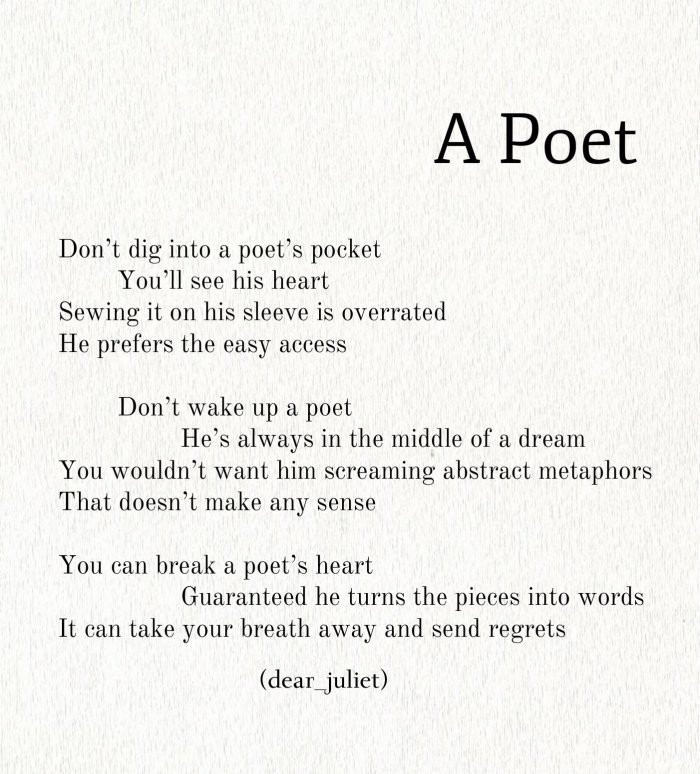 a poet
