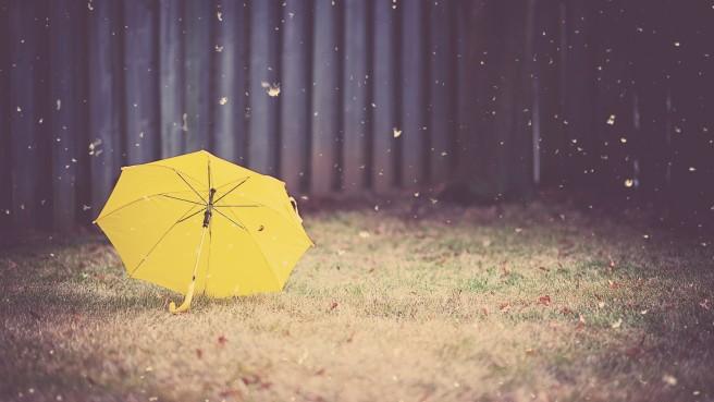 yellow-umbrella-artistic-wallpaper