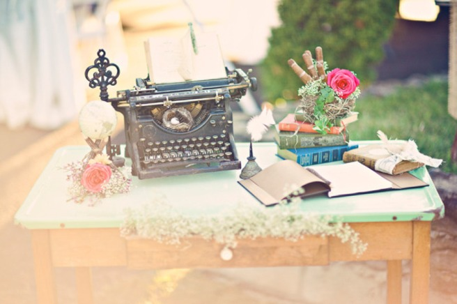 vintage-wedding-welcome-table-antique-typewriter-books-and-more-original